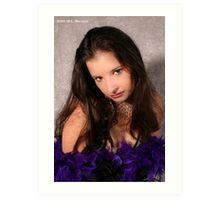 Showgirl in Purple Feathers Art Print
