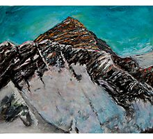 Mt. Everest over Nuptse ridge Photographic Print