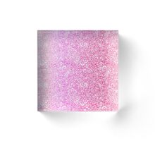 Pink Ombre Acrylic Block
