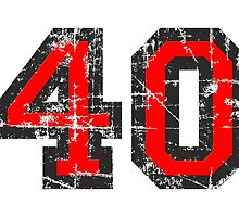 Number 40 Vintage 40th Birthday Anniversary by theshirtshops