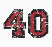 Number 40 Vintage 40th Birthday Anniversary One Piece - Short Sleeve