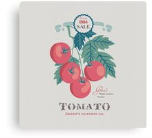 Veg Love Collection No.5 Tomato Canvas Print