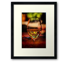 Wine in the Garden Framed Print