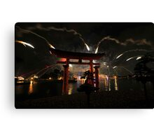 World showcase fireworks Canvas Print