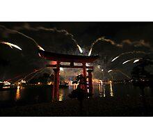 World showcase fireworks Photographic Print
