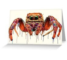 Spider Psychedelic Greeting Card
