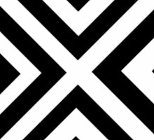 Black and White Optical Illusion Sticker