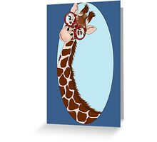 Giraffe Here's Looking At You Greeting Card