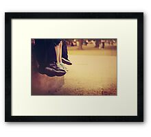 Take the weight off! Framed Print