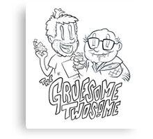 Gruesome Twosome - It's always sunny in Philadelphia fan art Canvas Print
