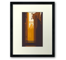 8bit Sunset Framed Print