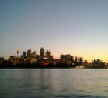 Sydney City Pixels by Kitsmumma