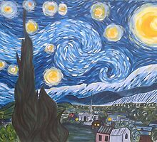 Van Gogh The Starry Night by ClaireCrisci
