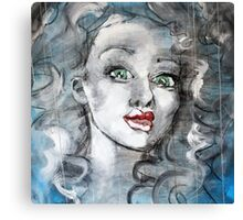 Raw Looks Abstract Woman's Face Canvas Print