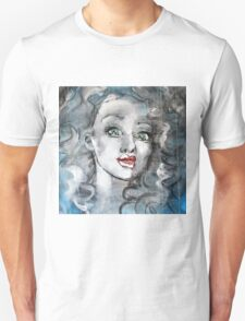 Raw Looks Abstract Woman's Face T-Shirt