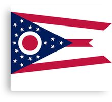 Ohio Columbus USA State Flag Bedspread T-Shirt Sticker Canvas Print