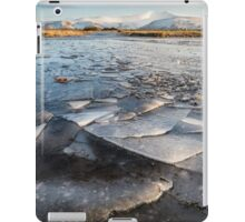 Ice Patterns in the Brecon Beacons iPad Case/Skin