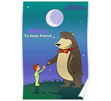 to best friend funny Poster