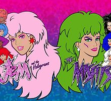 Jem and the Holograms Vs The Misfits by evobs