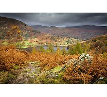 Autumnal Views over Rydal Water. Photographic Print