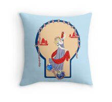 Tarot Two of Coins Throw Pillow