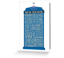 Doctor who quotes Greeting Card