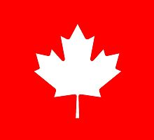 Canadian Canuck Maple Leaf Flag Bedspread Duvet Pillow Inverse by deanworld