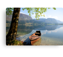 Tranquil alpine lake Canvas Print