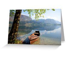 Tranquil alpine lake Greeting Card