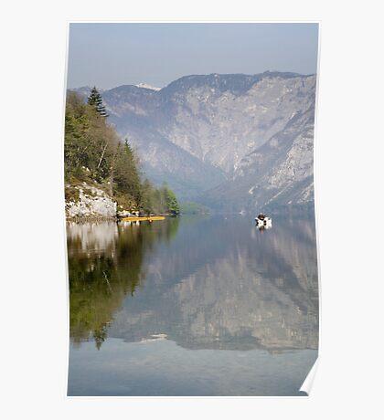 Alpine lake moods Poster