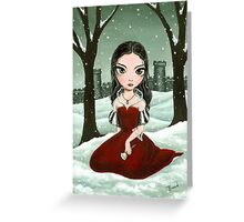 In love with the vampire Greeting Card