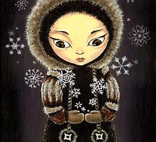 Inuit girl - the snowflake fairy by tanyabond