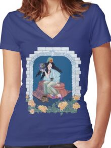 Tarot Ace of Coins/Pentacles Women's Fitted V-Neck T-Shirt