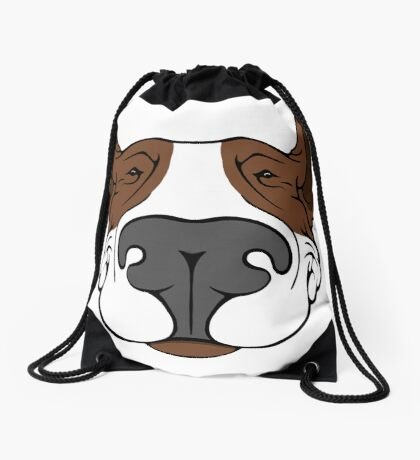 EBT Dog Grin Brown  Drawstring Bag