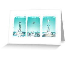 Liquid Sculpture  Greeting Card