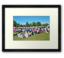 Tentertainment music festival, England Framed Print