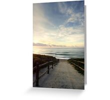 Old Bar Beach, Morning - HDR Greeting Card