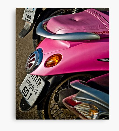 Scooter. Canvas Print