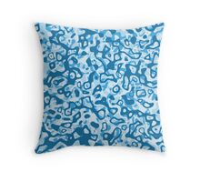 Multi Layer Abstract Pattern Blue Tones Throw Pillow
