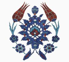 Iznik Tile inspired - The Owl by Muhammad Azim Ahad