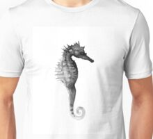 Gray seahorse minimalist painting Unisex T-Shirt