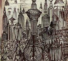 The Watchtower ( 1982 ) by John Dicandia  ( JinnDoW )