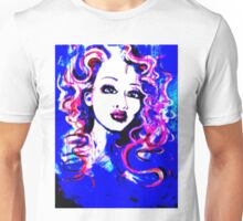 Raw Looks - Woman's Face Painting Digital Half Tone Unisex T-Shirt
