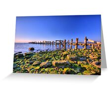 Old Bay Pier Greeting Card