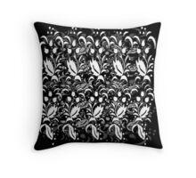 Floral Multi Layer Pattern - Monochrome Throw Pillow