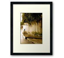 Little Girl at Paris Plages Framed Print
