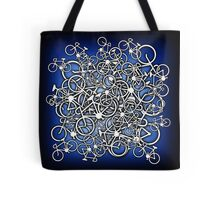 Tangled Up In Bicycles 2 - Blue Black fade Tote Bag