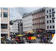 Copenhagen City Scene Poster