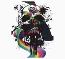 Screaming Super Skulls T-Shirt by jay007