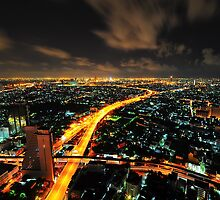 Cityscape of Bangkok. by Michael Schön
